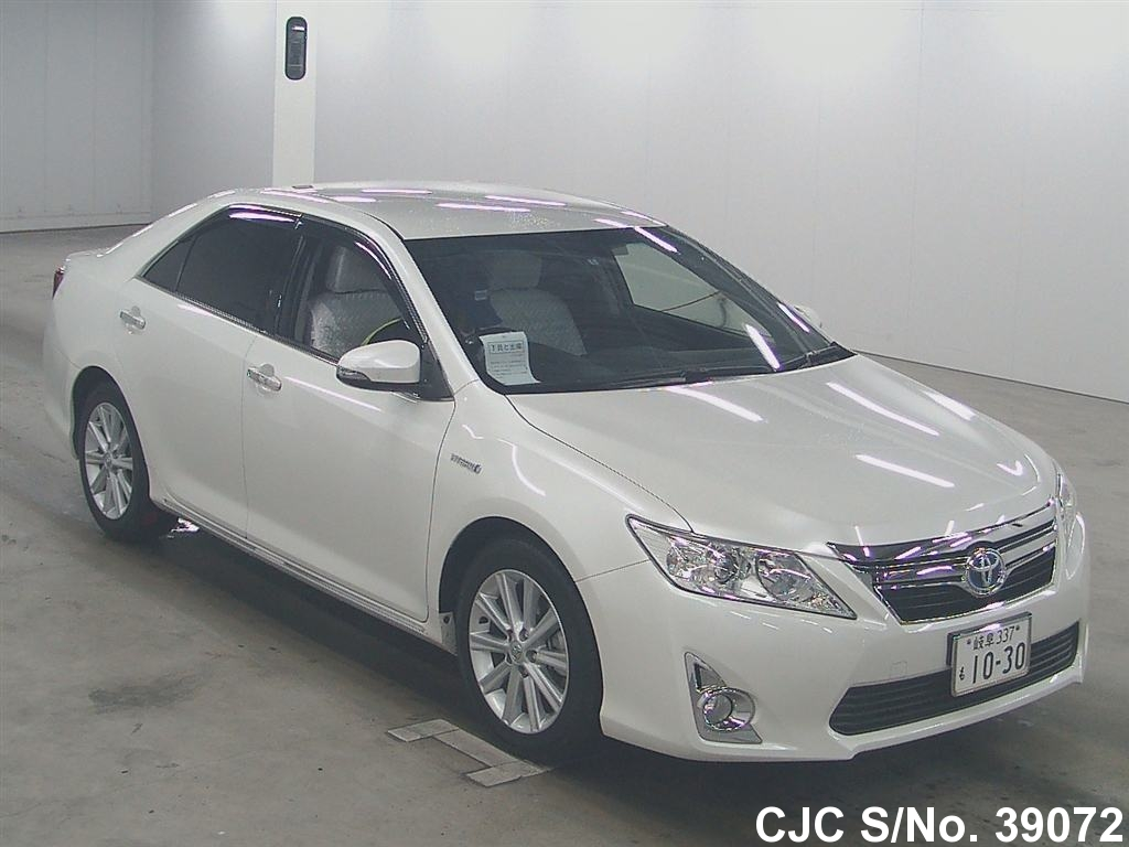 2012 toyota camry white for sale stock no 39072 japanese used cars exporter. Black Bedroom Furniture Sets. Home Design Ideas