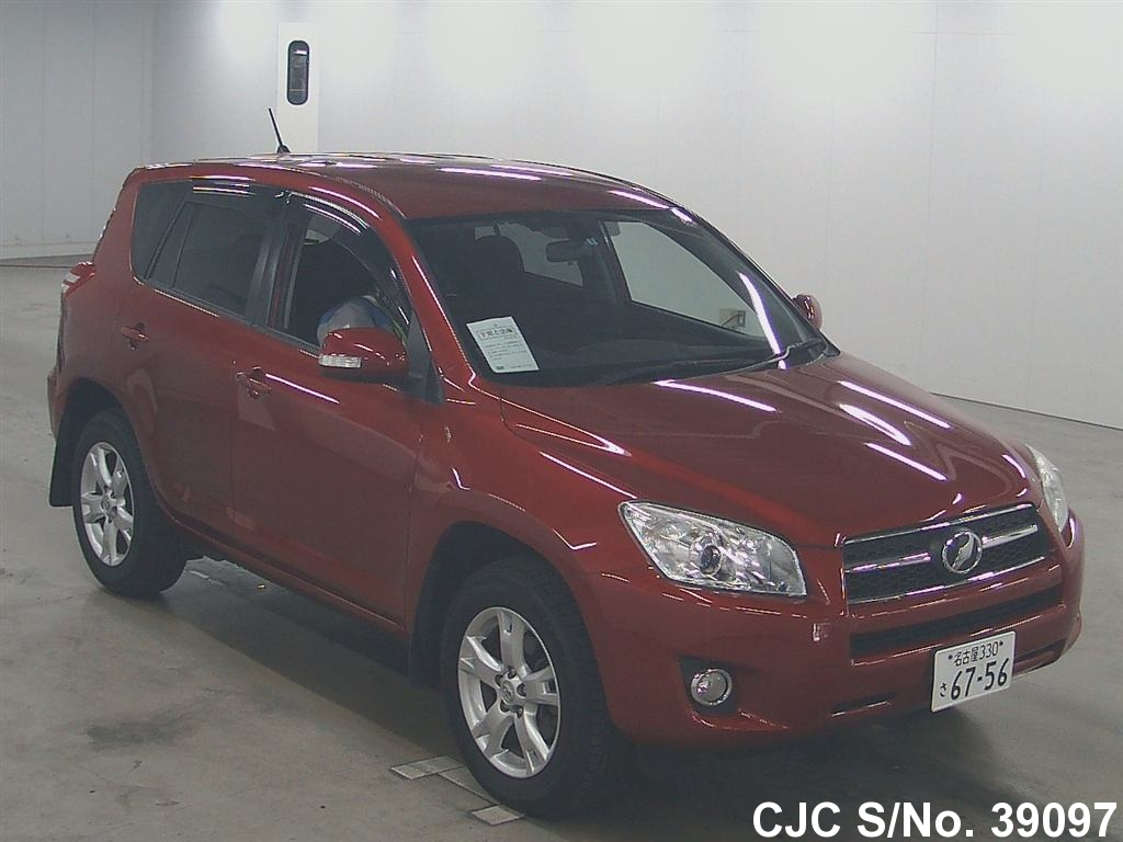 2009 toyota rav4 red for sale stock no 39097 japanese used cars exporter. Black Bedroom Furniture Sets. Home Design Ideas