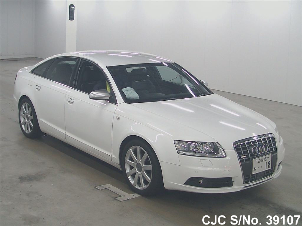 2008 audi a6 white for sale stock no 39107 japanese used cars exporter. Black Bedroom Furniture Sets. Home Design Ideas