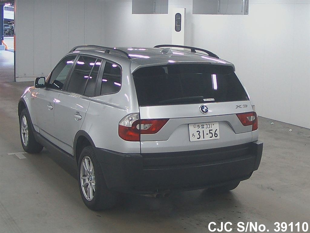 2005 bmw x3 silver for sale stock no 39110 japanese used cars exporter. Black Bedroom Furniture Sets. Home Design Ideas