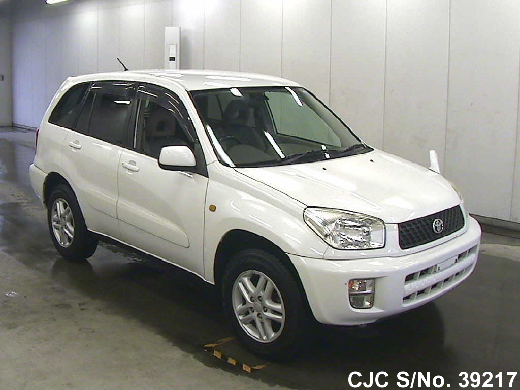 2001 toyota rav4 white for sale stock no 39217 japanese used cars exporter. Black Bedroom Furniture Sets. Home Design Ideas