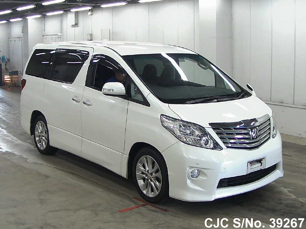 2009 toyota alphard pearl for sale stock no 39267 japanese used rh carjunction com