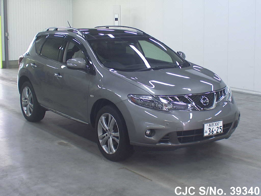 2011 nissan murano gray for sale stock no 39340 japanese used cars exporter. Black Bedroom Furniture Sets. Home Design Ideas