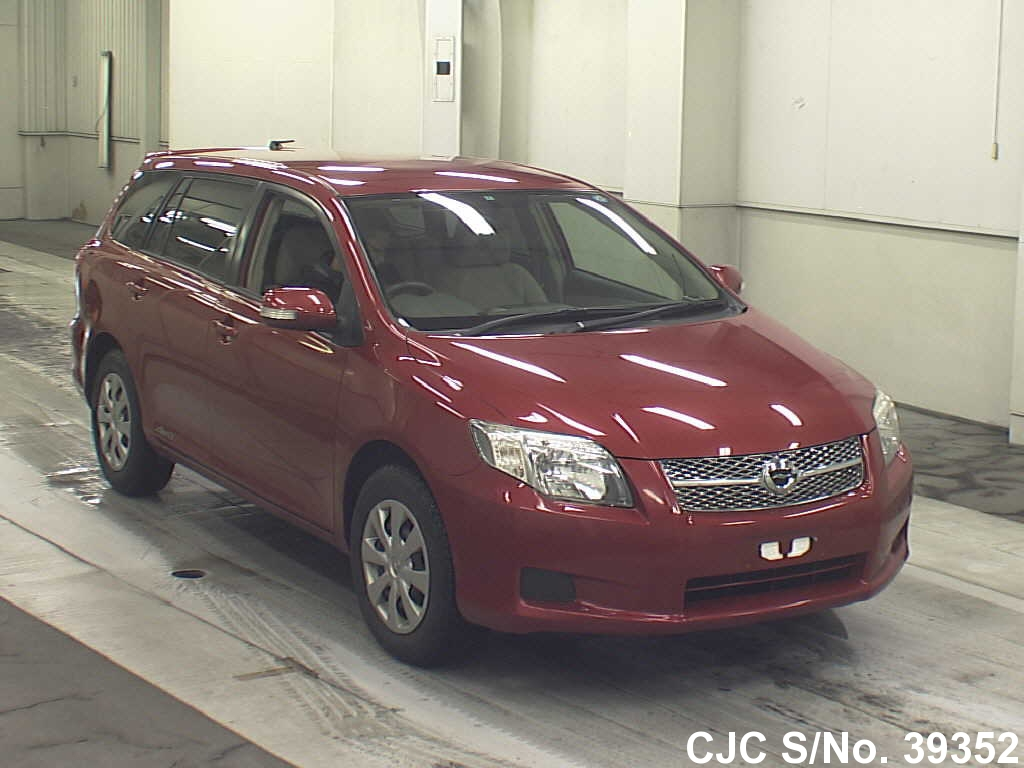 2007 toyota corolla fielder red for sale stock no 39352 japanese used cars exporter. Black Bedroom Furniture Sets. Home Design Ideas