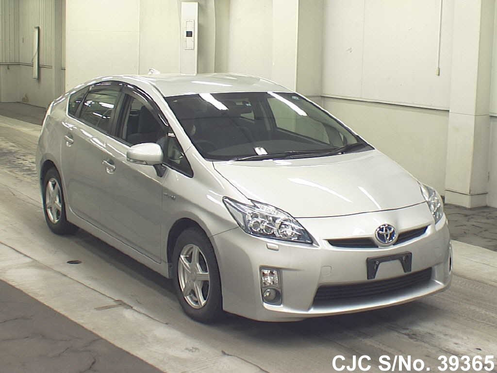 2010 toyota prius hybrid silver for sale stock no 39365 japanese used cars exporter. Black Bedroom Furniture Sets. Home Design Ideas
