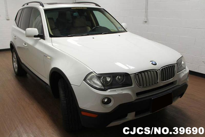 2008 left hand bmw x3 white for sale stock no 39690 left hand used cars exporter. Black Bedroom Furniture Sets. Home Design Ideas