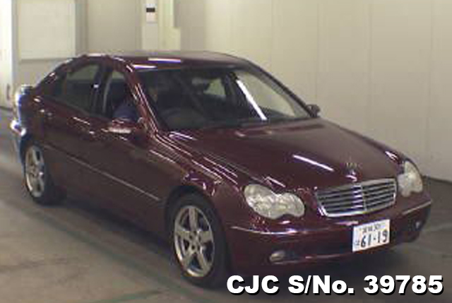 2001 mercedes benz c class wine for sale stock no 39785 japanese used cars exporter. Black Bedroom Furniture Sets. Home Design Ideas