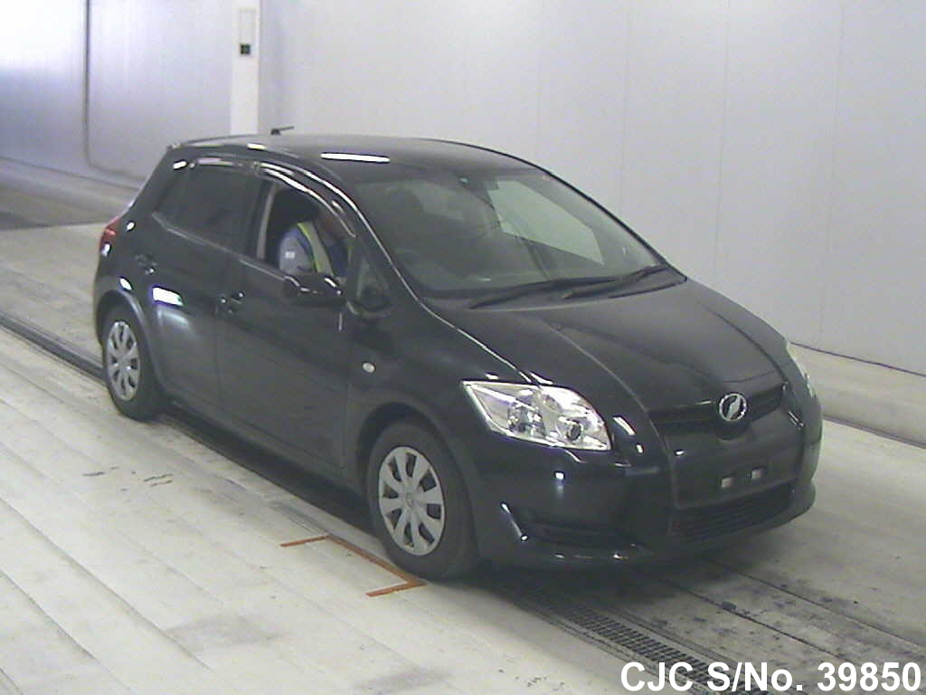 2009 toyota auris black for sale stock no 39850 japanese used cars exporter. Black Bedroom Furniture Sets. Home Design Ideas