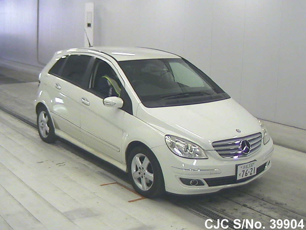 2007 mercedes benz b class white for sale stock no 39904 japanese used cars exporter. Black Bedroom Furniture Sets. Home Design Ideas