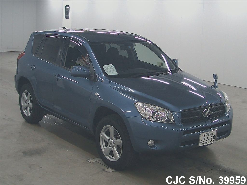 2006 toyota rav4 blue for sale stock no 39959 japanese used cars exporter. Black Bedroom Furniture Sets. Home Design Ideas