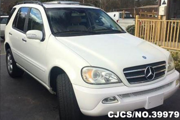 2004 left hand mercedes benz m class white for sale for 2004 mercedes benz ml350 for sale