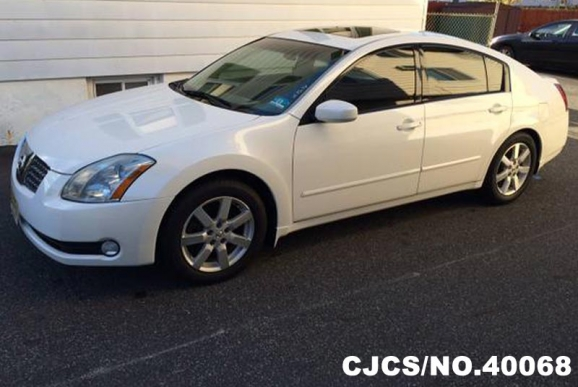 2006 left hand nissan maxima white for sale stock no 40068 left hand used cars exporter. Black Bedroom Furniture Sets. Home Design Ideas