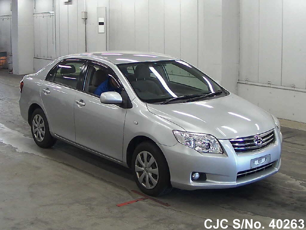 2011 toyota corolla axio silver for sale stock no 40263 japanese used cars exporter. Black Bedroom Furniture Sets. Home Design Ideas