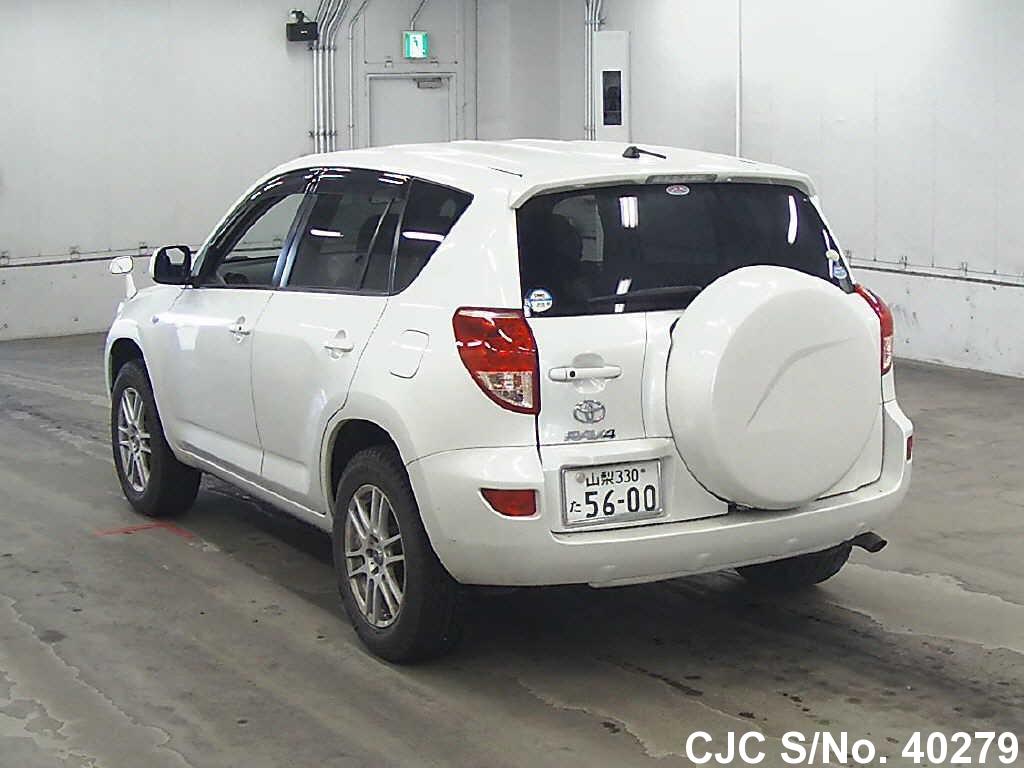 2007 toyota rav4 pearl for sale stock no 40279 japanese used cars exporter. Black Bedroom Furniture Sets. Home Design Ideas