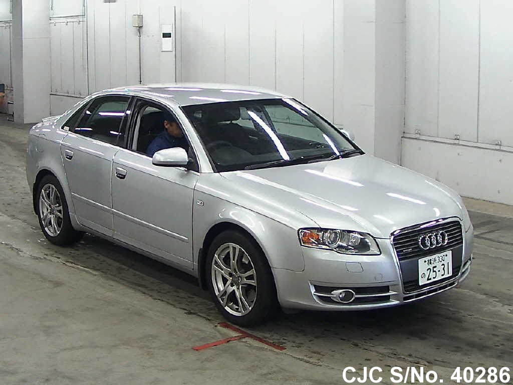 2007 audi a4 silver for sale stock no 40286 japanese. Black Bedroom Furniture Sets. Home Design Ideas