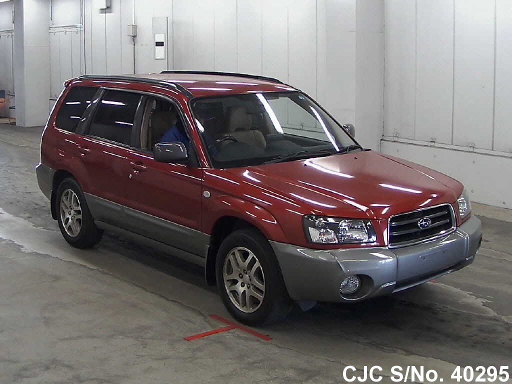 2004 subaru forester wine for sale stock no 40295 japanese used cars exporter. Black Bedroom Furniture Sets. Home Design Ideas
