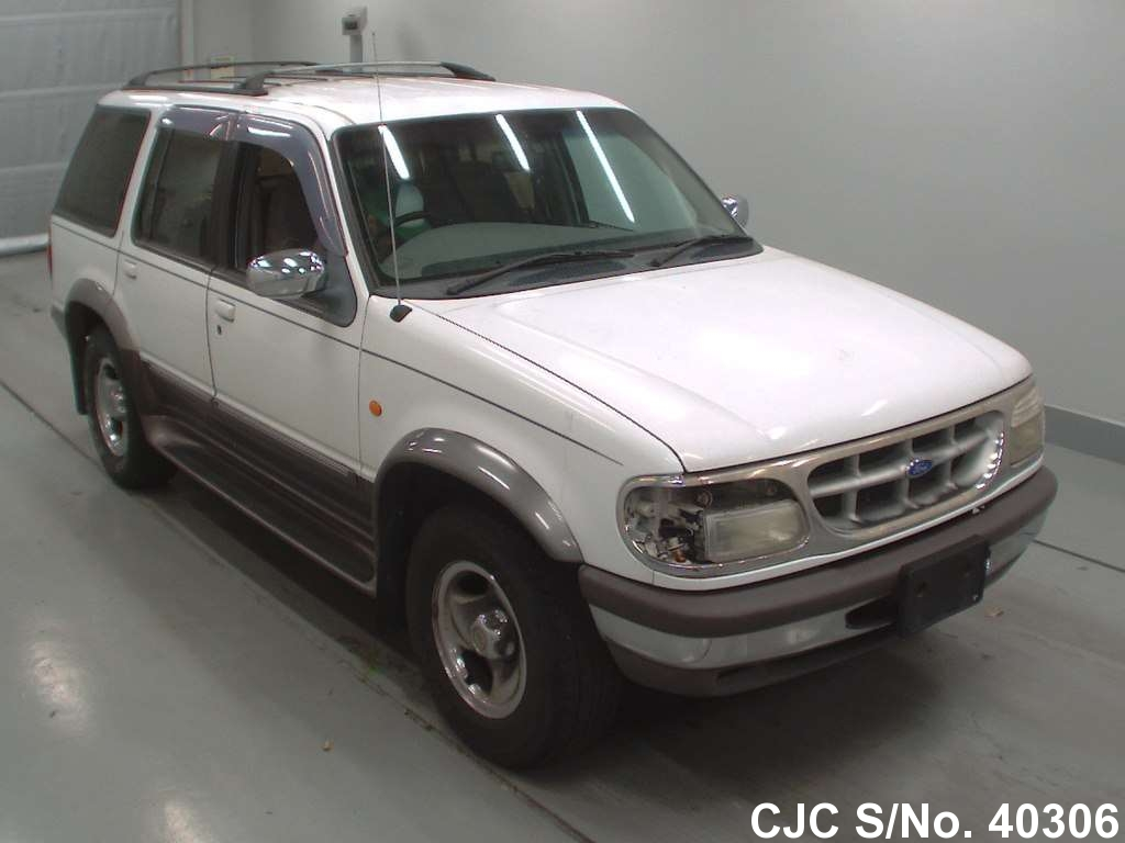 1997 ford explorer white for sale stock no 40306 japanese used cars exporter. Black Bedroom Furniture Sets. Home Design Ideas