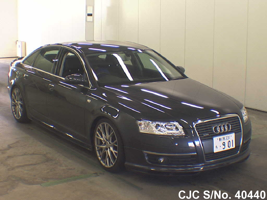 2005 audi a6 gray for sale stock no 40440 japanese used cars exporter. Black Bedroom Furniture Sets. Home Design Ideas