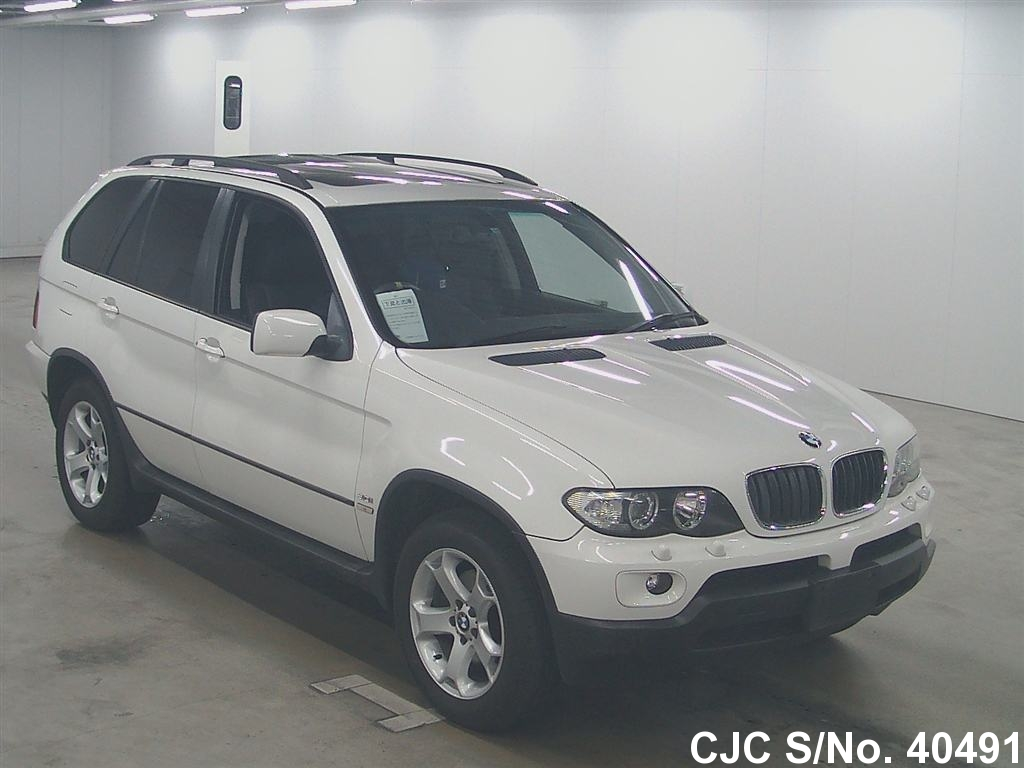 2004 bmw x5 white for sale stock no 40491 japanese used cars exporter. Black Bedroom Furniture Sets. Home Design Ideas