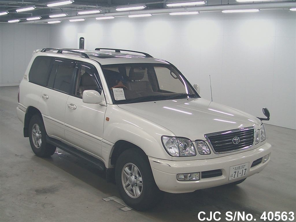 2000 toyota land cruiser pearl for sale stock no 40563 japanese used cars exporter. Black Bedroom Furniture Sets. Home Design Ideas