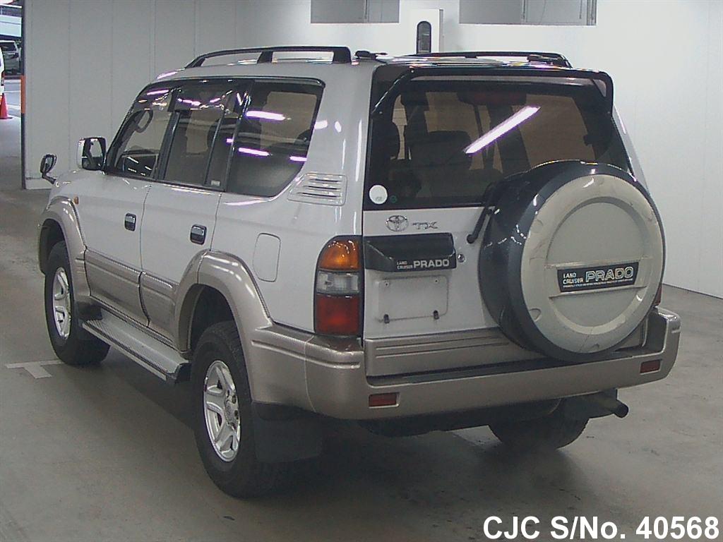 1998 toyota land cruiser prado white for sale stock no 40568 japanese used cars exporter. Black Bedroom Furniture Sets. Home Design Ideas