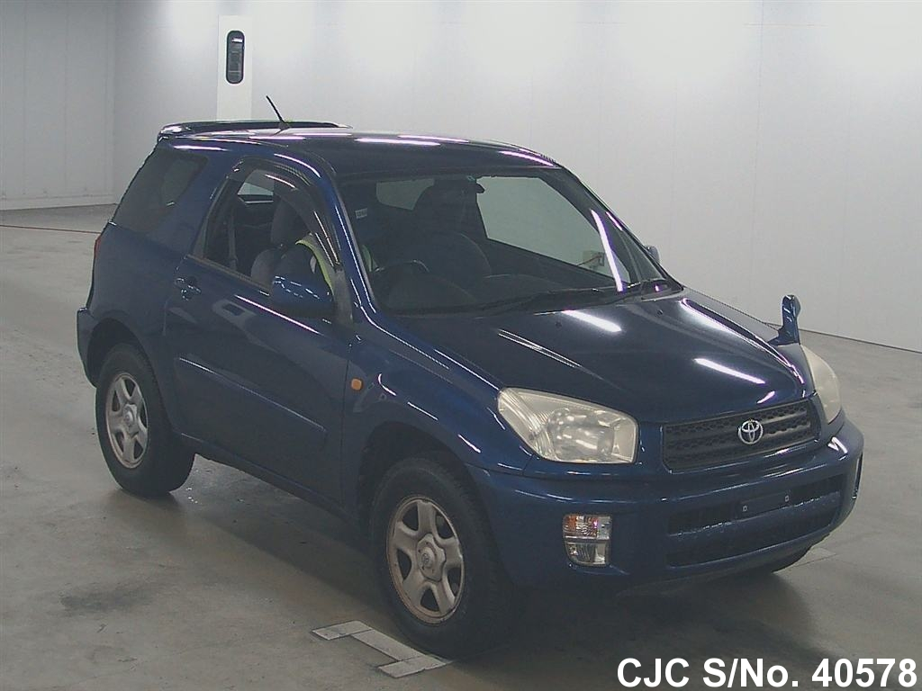 2001 toyota rav4 blue for sale stock no 40578 japanese used cars exporter. Black Bedroom Furniture Sets. Home Design Ideas