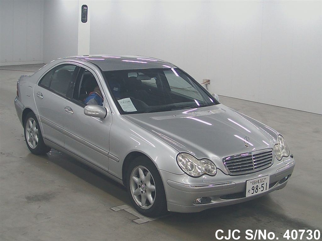 2004 mercedes benz c class silver for sale stock no 40730 japanese used cars exporter. Black Bedroom Furniture Sets. Home Design Ideas