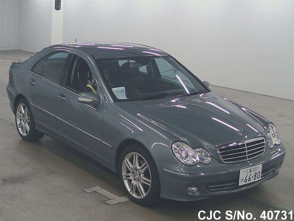 2006 mercedes benz c class gray for sale stock no 40731 japanese used cars exporter. Black Bedroom Furniture Sets. Home Design Ideas