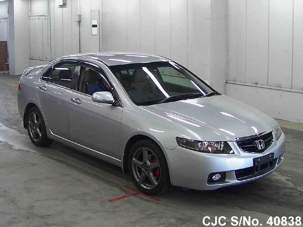 2005 honda accord silver for sale stock no 40838 japanese used cars exporter. Black Bedroom Furniture Sets. Home Design Ideas