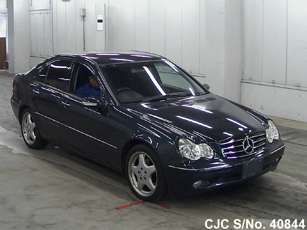 2002 mercedes benz c class black for sale stock no 40844 japanese used cars exporter. Black Bedroom Furniture Sets. Home Design Ideas