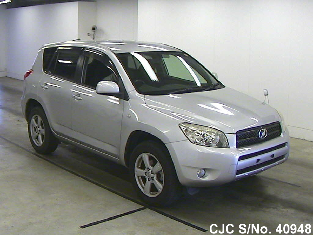 2006 toyota rav4 silver for sale stock no 40948 japanese used cars exporter. Black Bedroom Furniture Sets. Home Design Ideas
