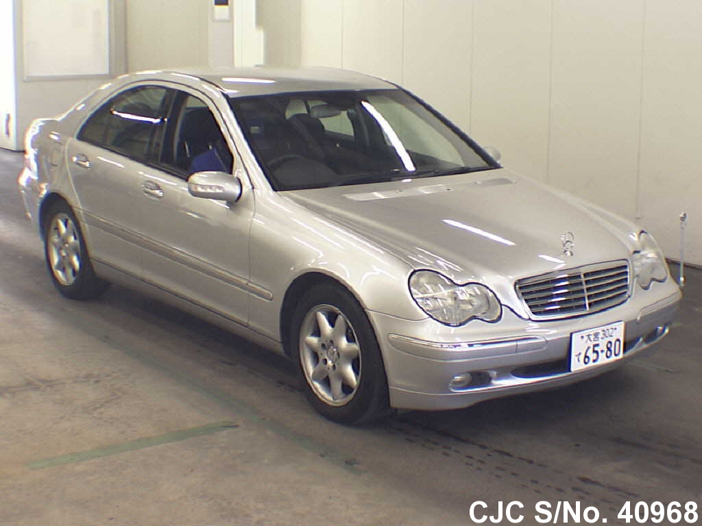 2004 mercedes benz c class silver for sale stock no 40968 japanese used cars exporter. Black Bedroom Furniture Sets. Home Design Ideas