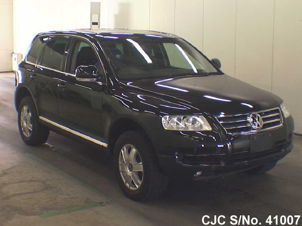 2005 volkswagen touareg black for sale stock no 41007 japanese used cars exporter. Black Bedroom Furniture Sets. Home Design Ideas