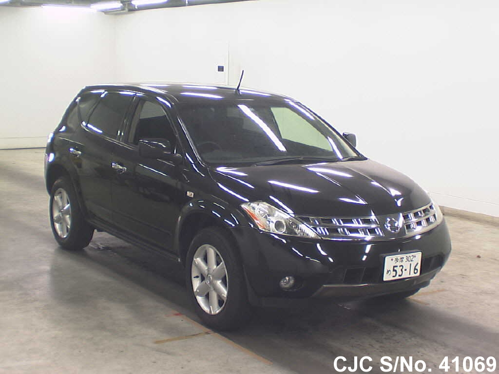 2005 nissan murano black for sale stock no 41069 japanese used cars exporter. Black Bedroom Furniture Sets. Home Design Ideas