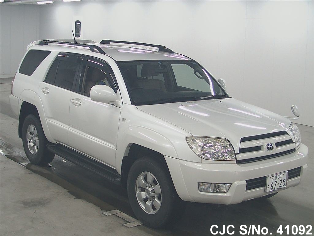 2005 toyota hilux surf 4runner pearl for sale stock no 41092 japanese used cars exporter. Black Bedroom Furniture Sets. Home Design Ideas