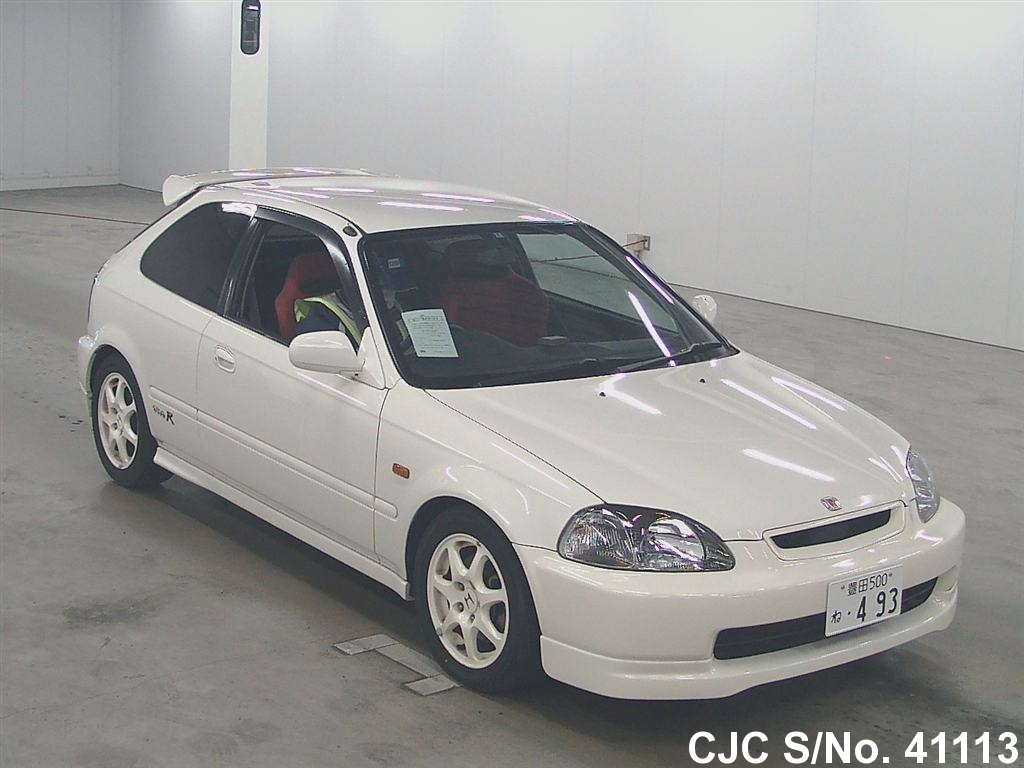 1998 honda civic white for sale stock no 41113 japanese used cars exporter. Black Bedroom Furniture Sets. Home Design Ideas