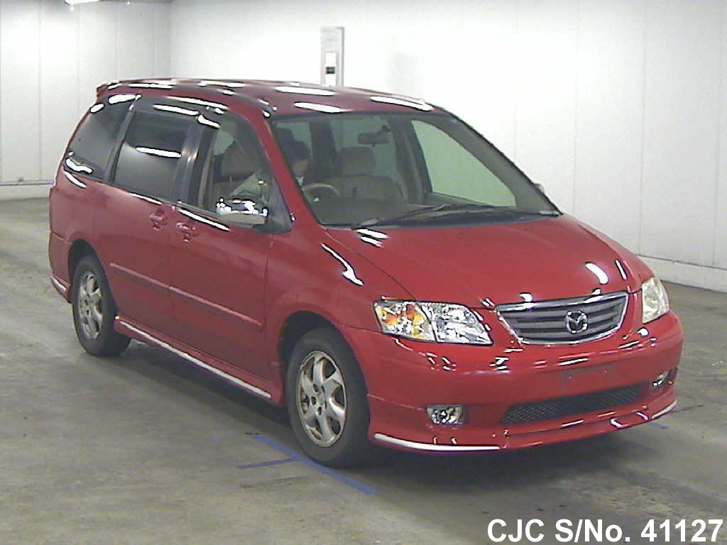 2001 mazda mpv red for sale stock no 41127 japanese used cars exporter. Black Bedroom Furniture Sets. Home Design Ideas