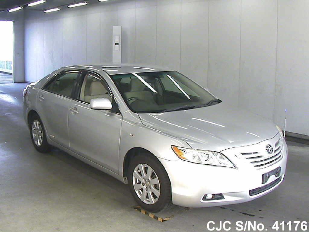 2008 toyota camry silver for sale stock no 41176 japanese used cars exporter. Black Bedroom Furniture Sets. Home Design Ideas