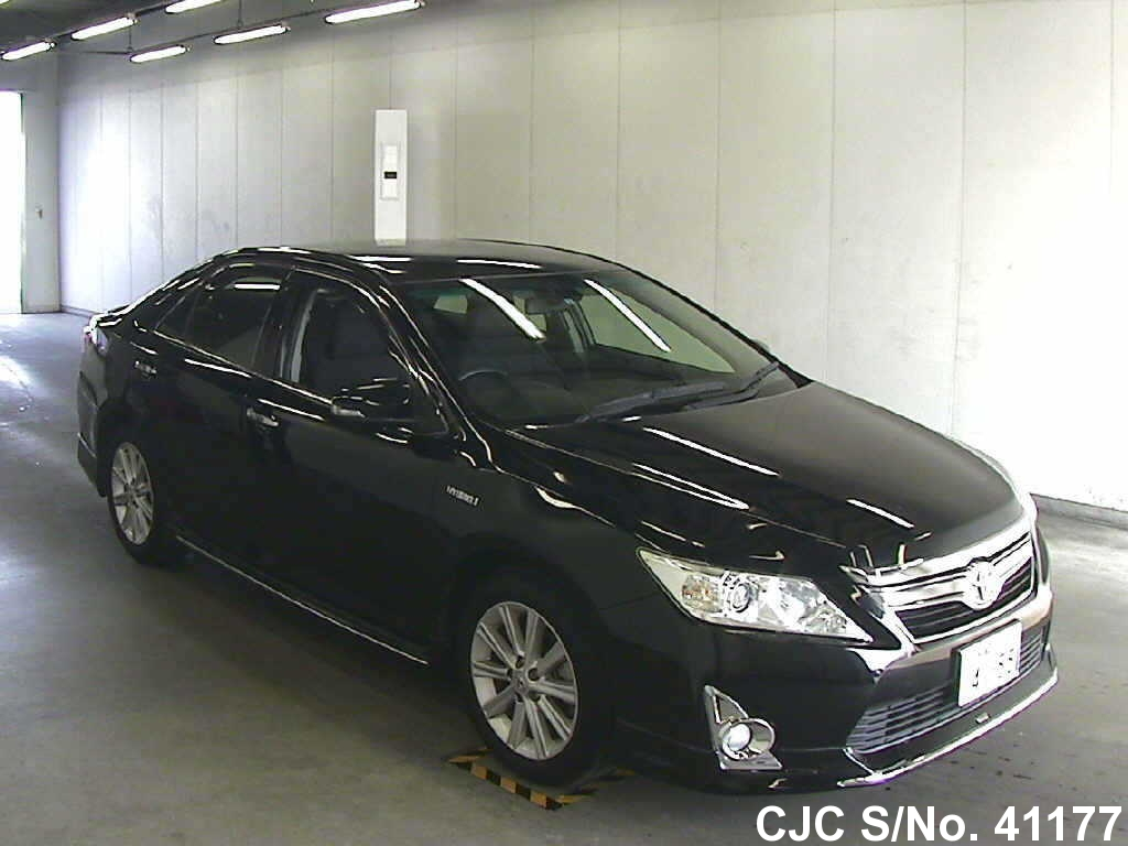 2012 toyota camry black for sale stock no 41177 japanese used cars exporter. Black Bedroom Furniture Sets. Home Design Ideas