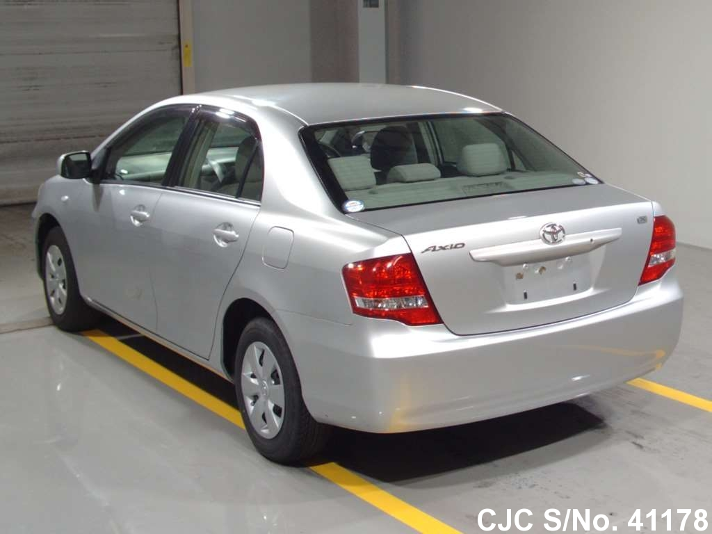 2008 toyota corolla axio silver for sale stock no 41178 japanese used cars exporter. Black Bedroom Furniture Sets. Home Design Ideas