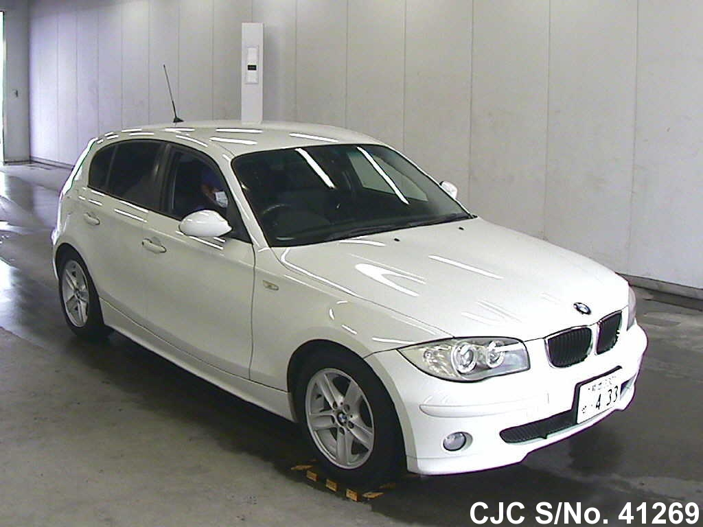 2005 bmw 1 series white for sale stock no 41269 japanese used cars exporter. Black Bedroom Furniture Sets. Home Design Ideas