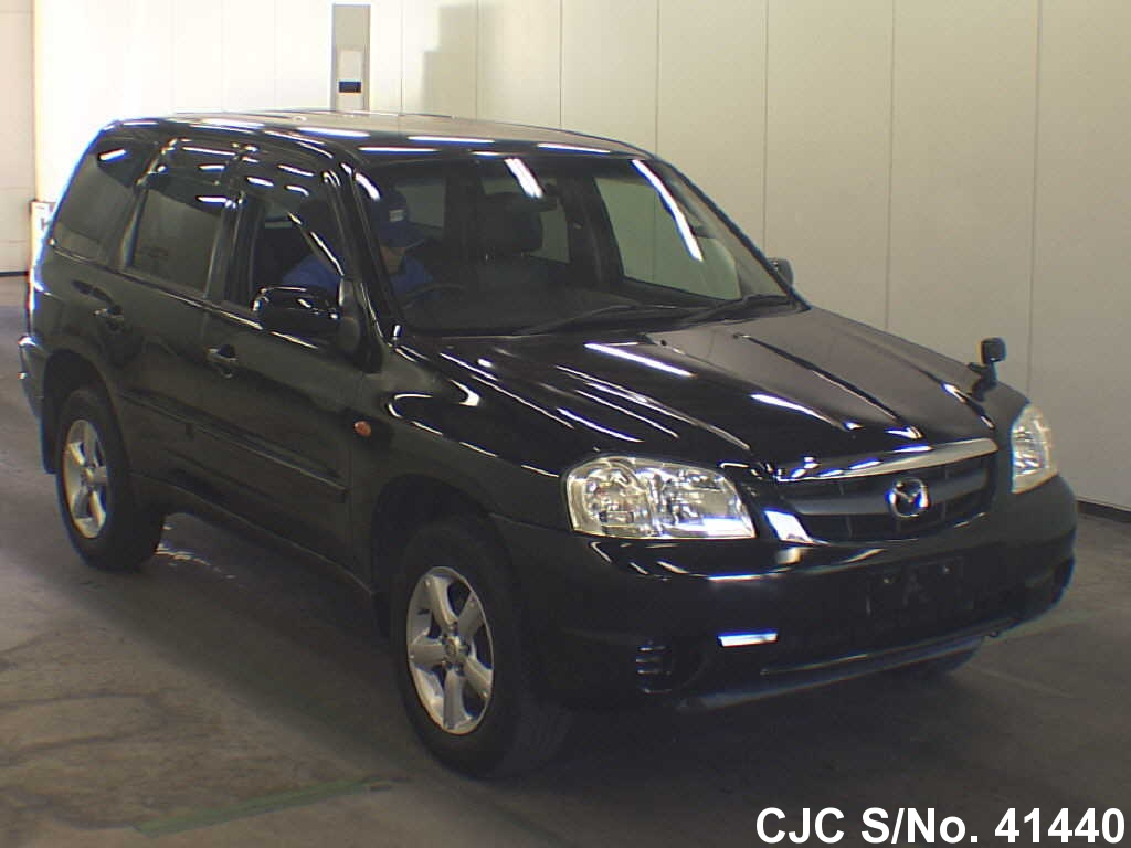 2005 mazda tribute black for sale stock no 41440 japanese used cars exporter. Black Bedroom Furniture Sets. Home Design Ideas