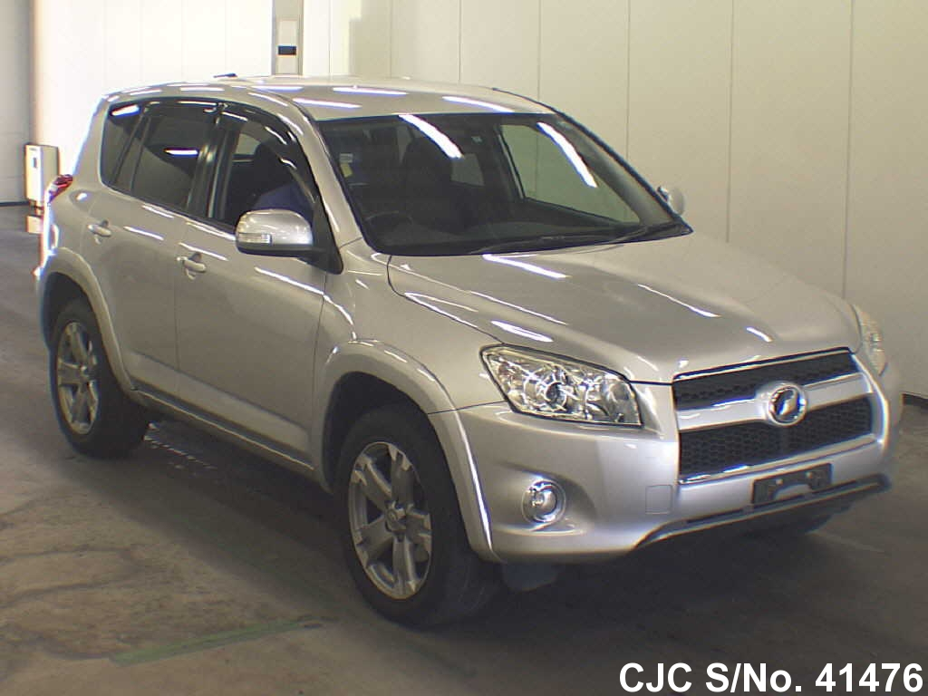 2009 toyota rav4 silver for sale stock no 41476 japanese used cars exporter. Black Bedroom Furniture Sets. Home Design Ideas