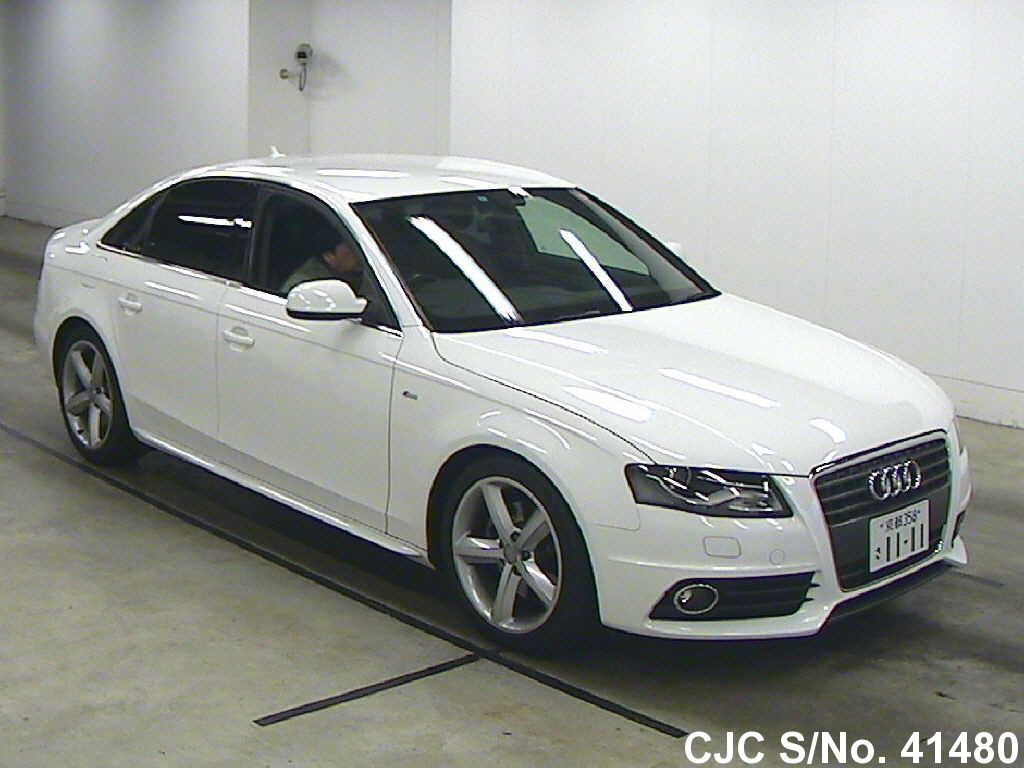 2010 audi a4 white for sale stock no 41480 japanese. Black Bedroom Furniture Sets. Home Design Ideas