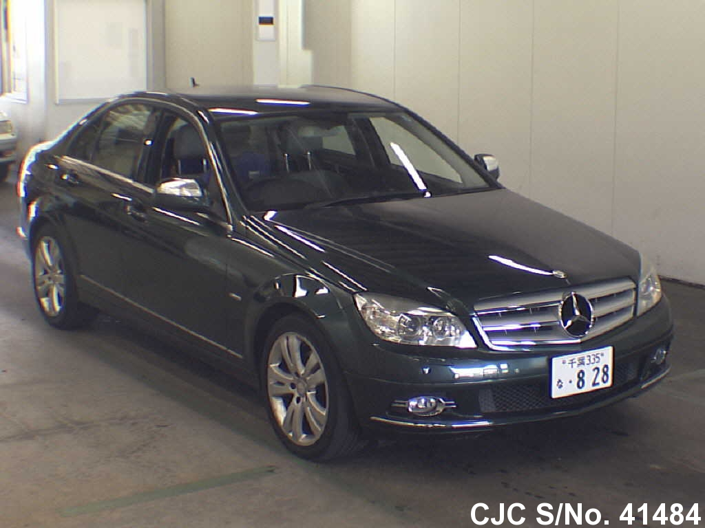 2007 mercedes benz c class green for sale stock no 41484 japanese used cars exporter. Black Bedroom Furniture Sets. Home Design Ideas