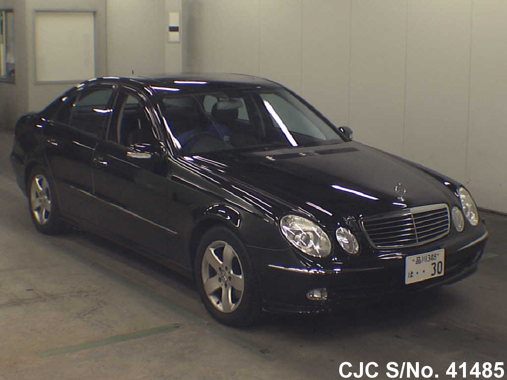 2002 mercedes benz e class black for sale stock no 41485 japanese used cars exporter. Black Bedroom Furniture Sets. Home Design Ideas