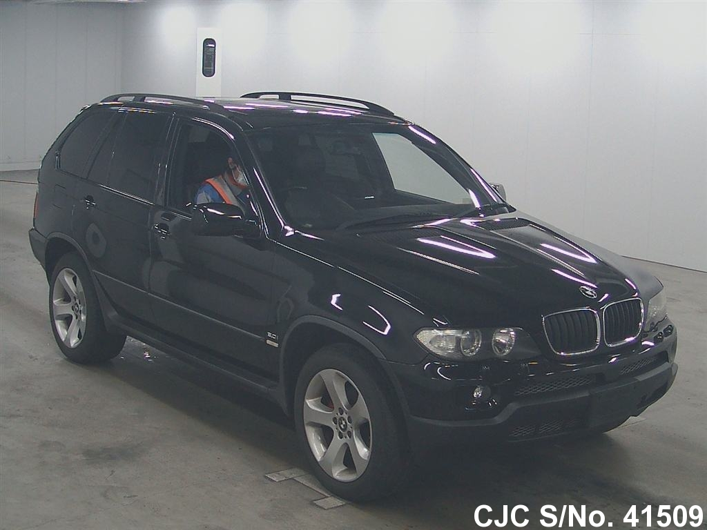 2004 bmw x5 black for sale stock no 41509 japanese used cars exporter. Black Bedroom Furniture Sets. Home Design Ideas
