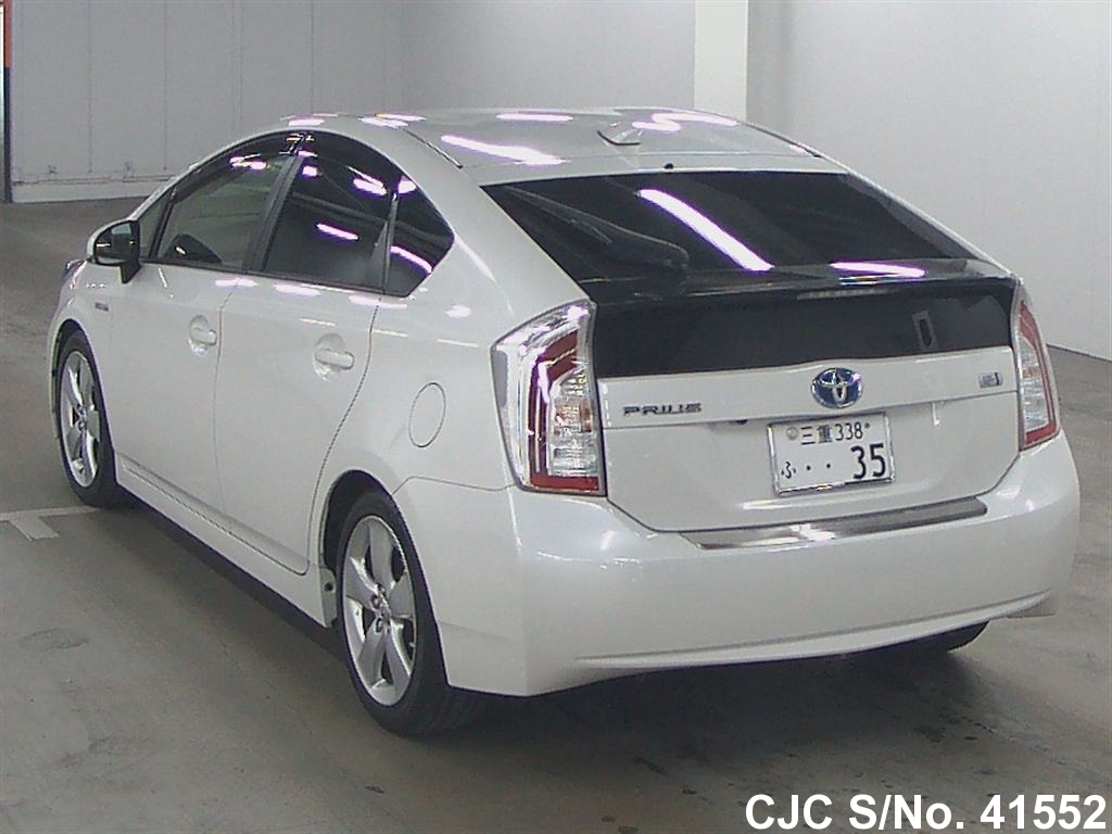 2013 toyota prius hybrid pearl for sale stock no 41552 japanese used cars exporter. Black Bedroom Furniture Sets. Home Design Ideas