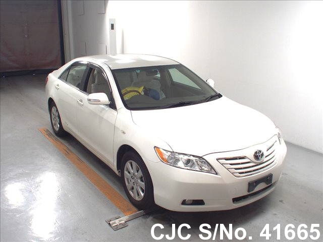 2008 toyota camry pearl for sale stock no 41665 japanese used cars exporter. Black Bedroom Furniture Sets. Home Design Ideas