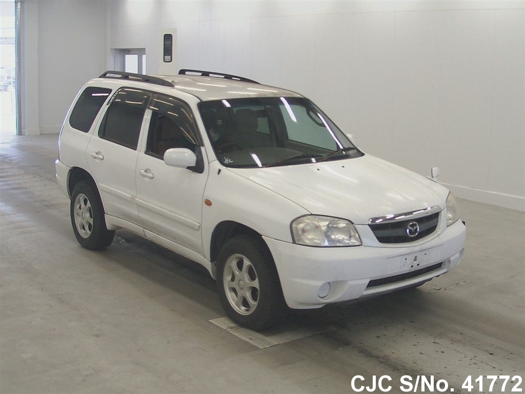 2001 mazda tribute white for sale stock no 41772. Black Bedroom Furniture Sets. Home Design Ideas